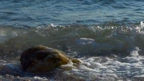 Υπόβαθρο με την κυματωγή θάλασσας απόθεμα βίντεο