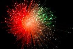 Υπόβαθρο με την κόκκινη έκρηξη ακτίνων Διανυσματική απεικόνιση