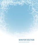 Υπόβαθρο με την πάχνη για τις χειμερινές διακοπές Στοκ φωτογραφίες με δικαίωμα ελεύθερης χρήσης