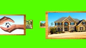 Υπόβαθρο με την πράσινη ιδιοκτησία διαφήμισης οθόνης απόθεμα βίντεο