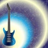 Διανυσματικό υπόβαθρο με την κιθάρα Στοκ εικόνες με δικαίωμα ελεύθερης χρήσης