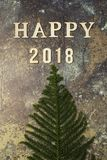 Υπόβαθρο με τη λέξη 2018 καλή χρονιά Στοκ Εικόνες