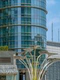 Υπόβαθρο με τη λεπτομέρεια του νέου κτηρίου αρχιτεκτονικής Στοκ φωτογραφία με δικαίωμα ελεύθερης χρήσης