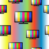 Υπόβαθρο με τη συσκευή τηλεόρασης Στοκ Φωτογραφίες