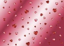 Υπόβαθρο με τις καρδιές την ημέρα του βαλεντίνου Στοκ Εικόνες