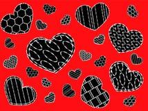 υπόβαθρο με τις καρδιές Στοκ Εικόνες