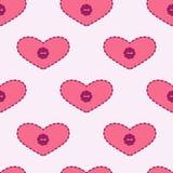 Υπόβαθρο με τις καρδιές applique Στοκ Εικόνα