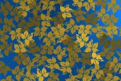 Υπόβαθρο με τις σκιαγραφίες των φύλλων πέρα από το φωτεινό μπλε υπόβαθρο Στοκ φωτογραφίες με δικαίωμα ελεύθερης χρήσης