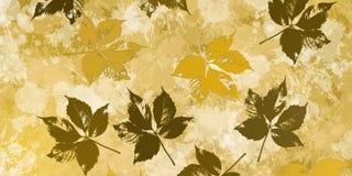 Υπόβαθρο με τις σκιαγραφίες φθινοπώρου πέρα από τους λεκέδες Στοκ Εικόνες