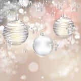 Υπόβαθρο με τις σφαίρες Χριστουγέννων Στοκ εικόνα με δικαίωμα ελεύθερης χρήσης