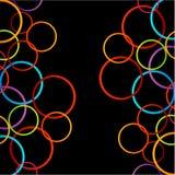 Υπόβαθρο με τους ζωηρόχρωμους κύκλους Στοκ Εικόνες