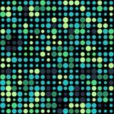 Υπόβαθρο με τους ζωηρόχρωμους πράσινους κύκλους για το σχέδιο διανυσματική απεικόνιση