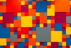 Υπόβαθρο με τους χρωματισμένους κύβους Στοκ Εικόνες