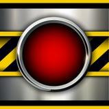 Υπόβαθρο με το κόκκινο κουμπί συναγερμών ελεύθερη απεικόνιση δικαιώματος