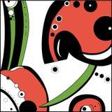 Υπόβαθρο με το σχέδιο ladybugs απεικόνιση αποθεμάτων