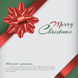 Υπόβαθρο με το τόξο, κάρτα Χριστουγέννων, απεικόνιση Στοκ Εικόνες
