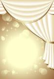 Υπόβαθρο με το φως drapes Στοκ εικόνα με δικαίωμα ελεύθερης χρήσης