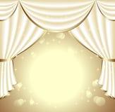 Υπόβαθρο με το φως drapes Στοκ φωτογραφία με δικαίωμα ελεύθερης χρήσης