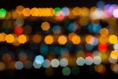 Υπόβαθρο με το bokeh τη νύχτα Στοκ Φωτογραφίες