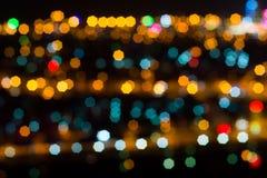 Υπόβαθρο με το bokeh τη νύχτα Στοκ Εικόνες
