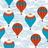 Υπόβαθρο με ballons αέρα διανυσματική απεικόνιση