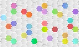 Υπόβαθρο με hexagons Στοκ εικόνες με δικαίωμα ελεύθερης χρήσης
