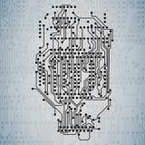 Υπόβαθρο μικροτσίπ, κύκλωμα ηλεκτρονικής, EPS10 Στοκ Φωτογραφίες