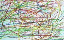 Υπόβαθρο μολυβιών χρωμάτων σύστασης doodle συρμένο διαφορετικό στοκ εικόνες