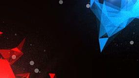 Υπόβαθρο μορίων Cinematic Άνευ ραφής βρόχος η εργασία των δομών απεικόνιση αποθεμάτων