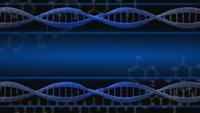 Υπόβαθρο μορίων DNA Στοκ Εικόνες