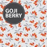 Υπόβαθρο μούρων Goji απεικόνιση αποθεμάτων