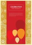 Υπόβαθρο μπαλονιών χρώματος εορτασμού Στοκ Φωτογραφίες