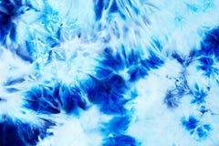 Υπόβαθρο μπατίκ, υφαντική δομή μπατίκ Μπλε χρώμα Στοκ φωτογραφία με δικαίωμα ελεύθερης χρήσης