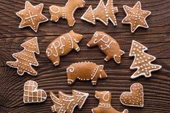 Υπόβαθρο μπισκότων Χριστουγέννων μελοψωμάτων Στοκ εικόνα με δικαίωμα ελεύθερης χρήσης
