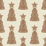 Υπόβαθρο μπισκότων Χριστουγέννων Στοκ Εικόνα