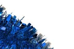 Υπόβαθρο μπλε tinsel Στοκ φωτογραφία με δικαίωμα ελεύθερης χρήσης
