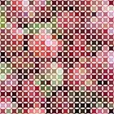 Υπόβαθρο μωσαϊκών από τα παραμορφωμένα μικρά τετράγωνα στοκ εικόνες