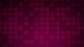 Υπόβαθρο μωσαϊκών μορφών καρδιών αγάπης απόθεμα βίντεο