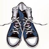 Υπόβαθρο μόδας με τα πάνινα παπούτσια αθλητικών μποτών Στοκ φωτογραφία με δικαίωμα ελεύθερης χρήσης