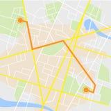 Υπόβαθρο ναυσιπλοΐας ΠΣΤ Οδικός χάρτης, διανυσματική απεικόνιση Στοκ Εικόνες