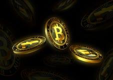 Υπόβαθρο νομισμάτων Cryptocurrency Στοκ Εικόνες