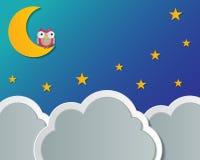 Υπόβαθρο νυχτερινού ουρανού Στοκ φωτογραφία με δικαίωμα ελεύθερης χρήσης