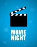 Υπόβαθρο νύχτας κινηματογράφων Στοκ φωτογραφία με δικαίωμα ελεύθερης χρήσης