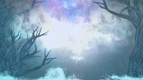 Υπόβαθρο νύχτας με τα δέντρα και το σκοτεινό ουρανό στοκ φωτογραφία με δικαίωμα ελεύθερης χρήσης