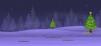 Υπόβαθρο νύχτας Χριστουγέννων ελεύθερη απεικόνιση δικαιώματος
