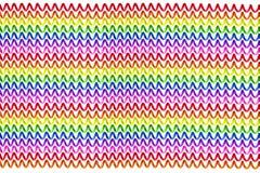 Υπόβαθρο ουράνιων τόξων των ζωηρόχρωμων τηλεφωνικών καλωδίων Στοκ Εικόνα
