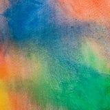 Υπόβαθρο ουράνιων τόξων Watercolor Στοκ Φωτογραφία