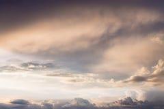 Υπόβαθρο ουρανού ηλιοβασιλέματος Στοκ φωτογραφία με δικαίωμα ελεύθερης χρήσης