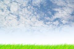 Υπόβαθρο ουρανού και χλόης Στοκ Εικόνα