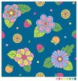Υπόβαθρο λουλουδιών και φρούτων Στοκ εικόνες με δικαίωμα ελεύθερης χρήσης